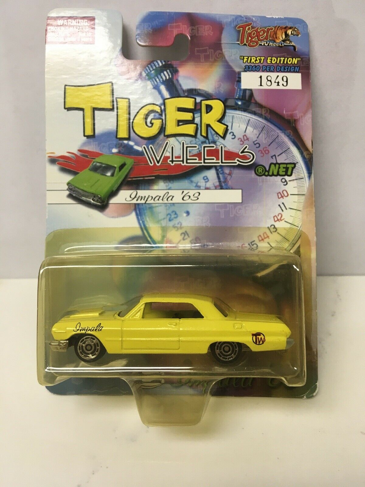 MINOR SOFT CORNERS Tiger Wheels Gelb '63 Chevy Impala Very Rare