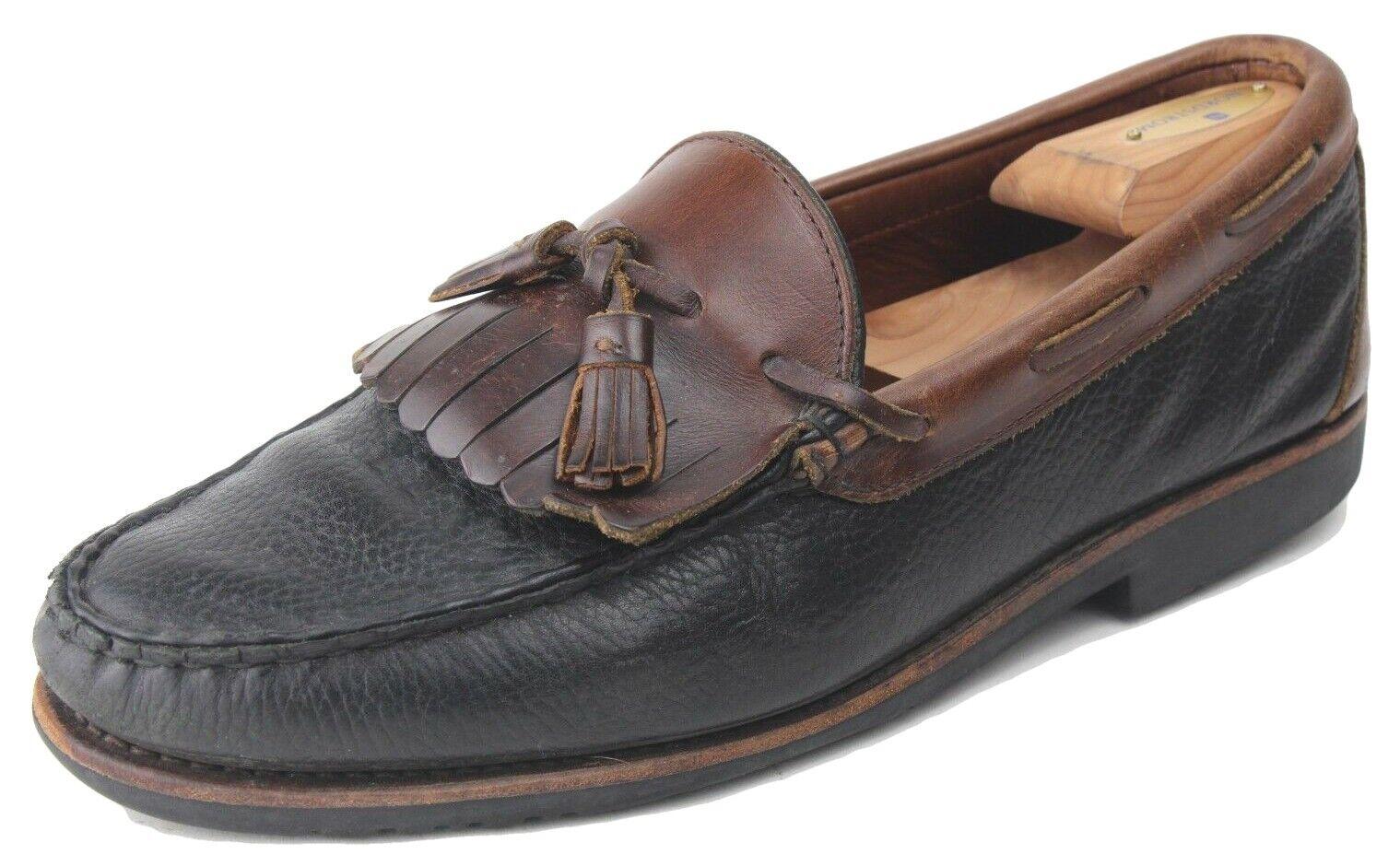Allen Edmonds Nashua 2 Tone Leather Kiltie Tassel Loafers US Size 11.5 D Medium