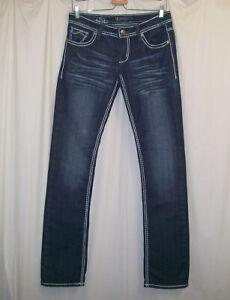 PEPE JEANS WOMEN'S 30 Straight Leg Jeans Blue Flap Pockets