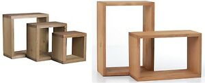 New-Corona-Wooden-Wall-Cube-Cubes-Shelf-Storage-Unit-Bookcase-Square-Rectangular