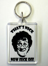MRS BROWNS BOYS FUNNY KEYRING, FECK OFF C1 FREE POSTAGE