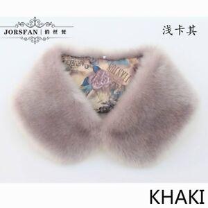 Women-Faux-Cony-Fur-Collar-Scarf-Shawl-Neck-Wrap-Furry-Fluffy-Soft-Warm-Winter