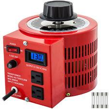 2kva Variable Transformer 20a 2000va Ac Votage Regulator Metered Variac 0 130v