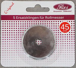 5-St-Ersatzklingen-fuer-Rollmesser-45mm-rund-Rollklingen-Klingen-f-Rollschneider