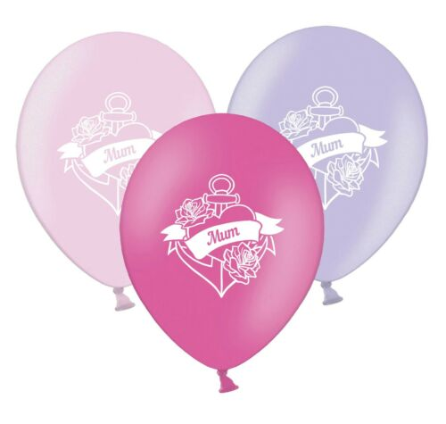 """Mum Love Heart Banner  12/""""   Pink /& Lavender Assorted  Balloons pack of 12"""