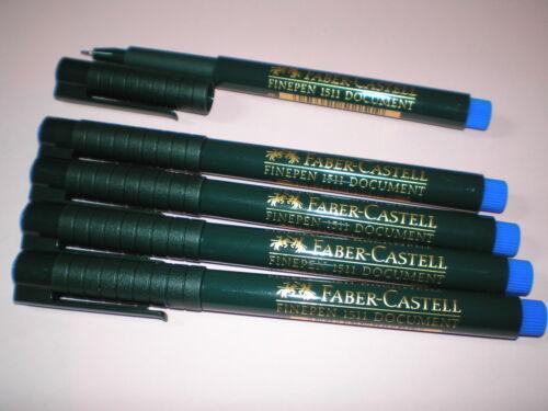 5x Faber-Castell Finepen 1511 blau 0,4mm Tinte dokumentenecht 151151 NEU