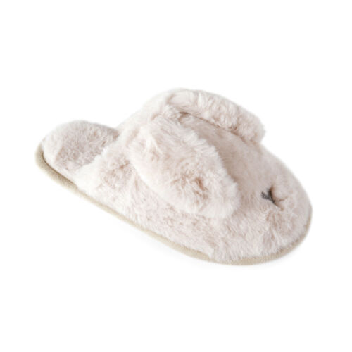 Womens 3D Novelty Mules Soft Faux Fur Bunny Rabbit Slippers Xmas Gift Size