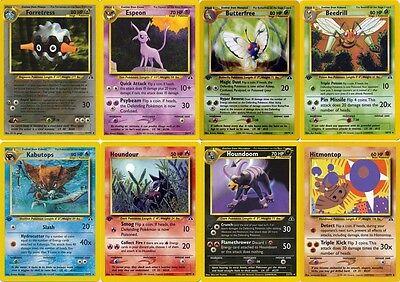 Espeon Umbreon Kabutops Tyranitar etc Pokemon cards Neo Discovery RARE HOLO