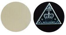 MI5 SECRET SERVICE METAL GOLF BALL MARKER DISC 25MM DIAMETER
