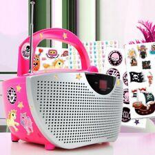 Mädchen Kinder Spiel Zimmer Boombox CD-Radio Stereo Anlage pink + 300 Sticker