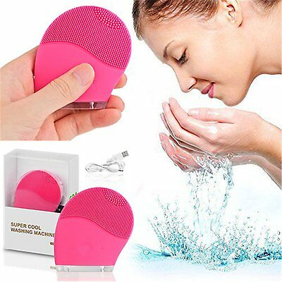 Rechargeable Electric Face Facial Cleansing Brush Spa Skin Care Massage Cleaning