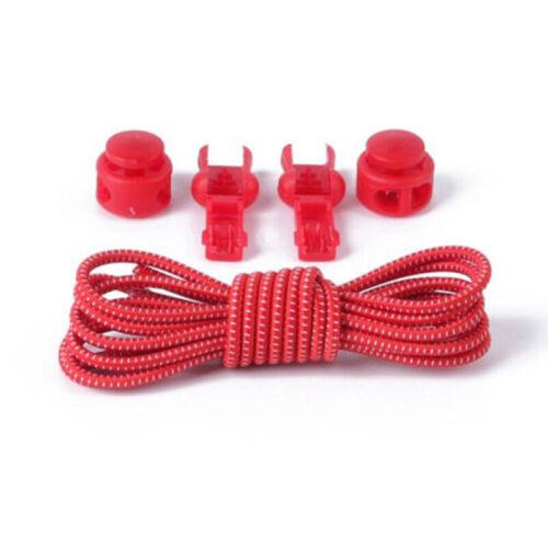 Convenient No Tie Shoe Laces Elastic Lock Lace System Lock Sports Shoelaces  UK