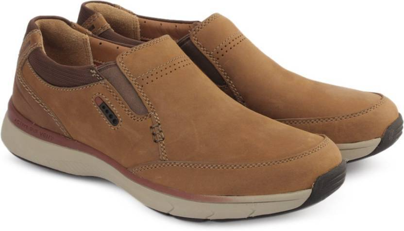 Clarks   Herren   Severon Step Tan , WIDE-FIT,  Active Air Vent , Cushions
