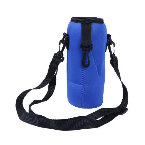 1000ml neoprene water bottle carrier insulated cover bag holder strap tra TS