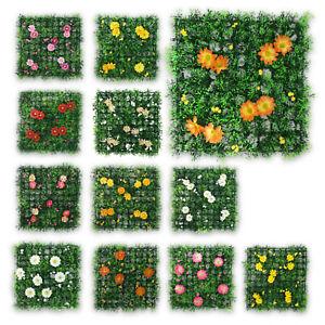 Bunte-Rasenfliesen-Kunstrasen-Kunstgras-Kunstblumen-Blumenmatte-Blumen-12er-SET