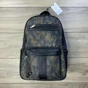 Robert-Graham-Men-039-s-Alban-Navy-Multicolor-Camo-Backpack-Camouflage-Bag-New-198