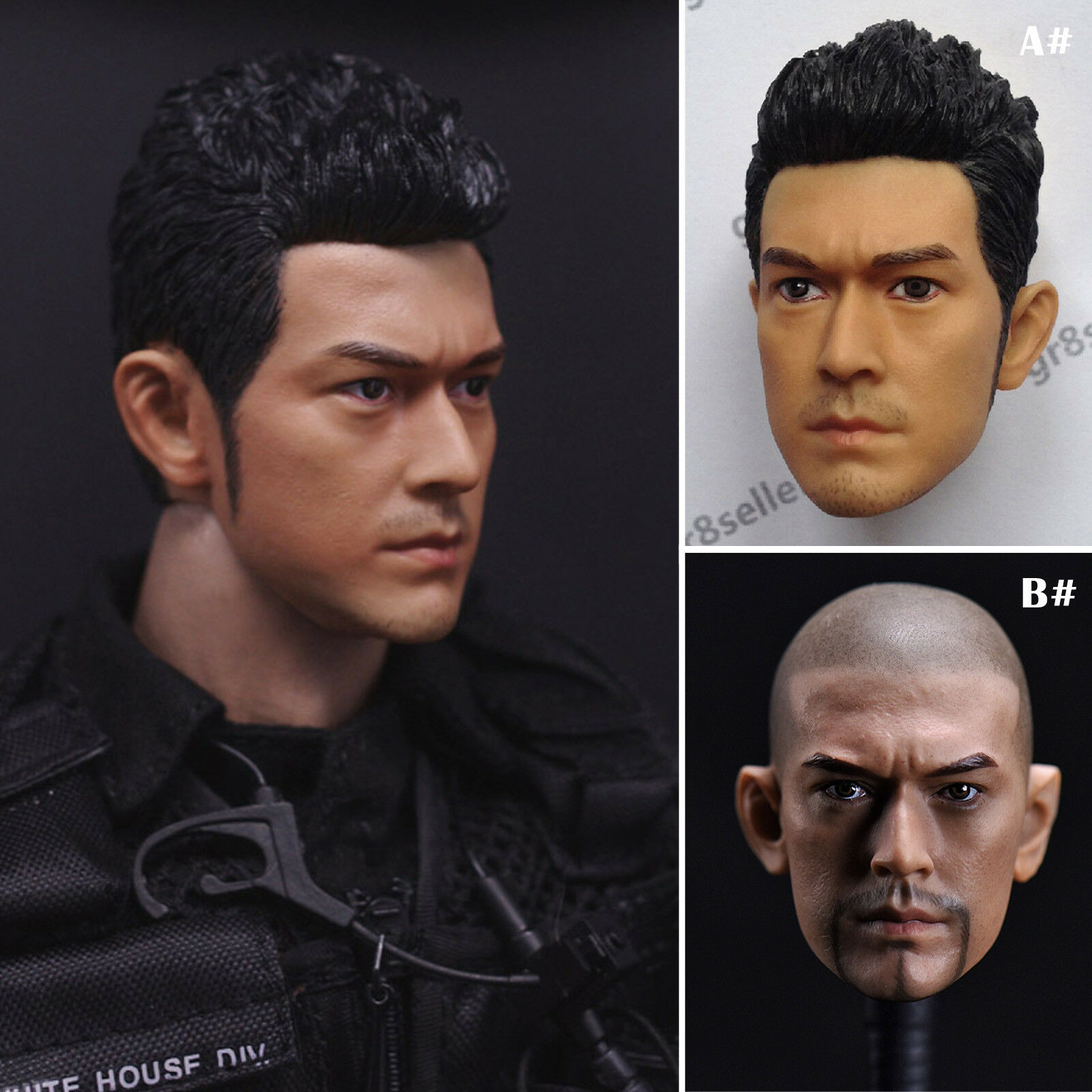 1/6 Male Headsculpt Model Takeshi Kaneshiro Type Head Carving F 12'' Man Figures