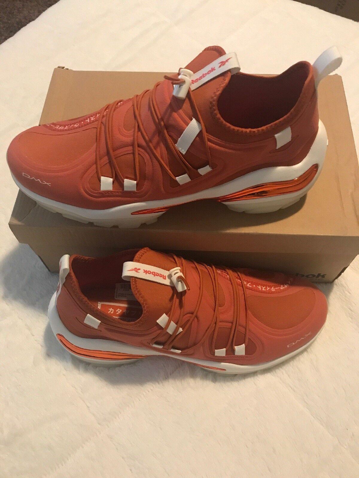 Reebok Dmx Series 2000 Low Mens orange Textile Athletic Training shoes 10