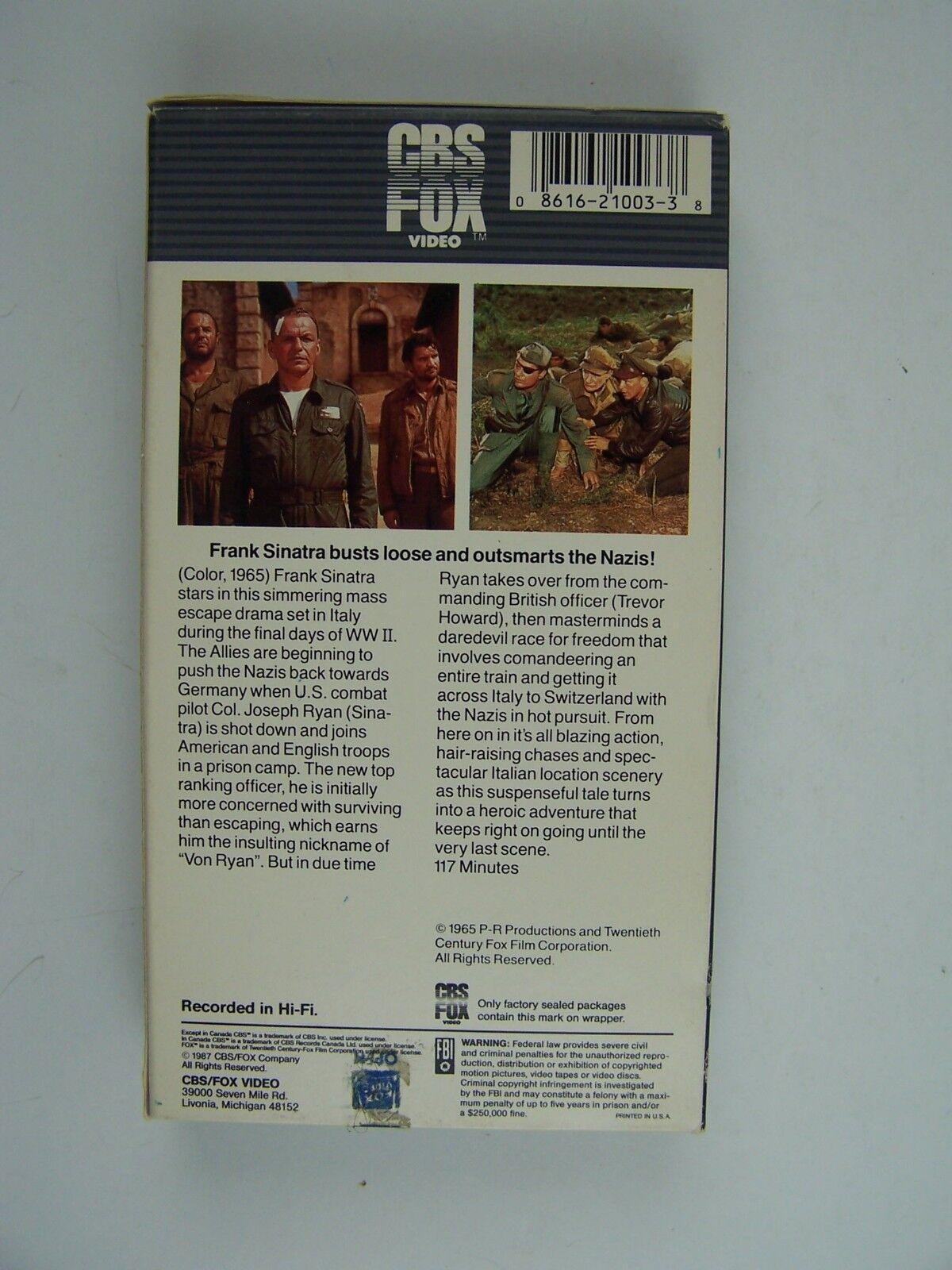 Von Ryan's Express VHS Frank Sinatra, Trevor Howard 245