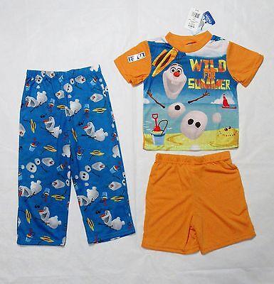 "Boys 3 piece set SIZE 6 NWT Disney Frozen Olaf /""Wild For Summer/"" Pajama Set"