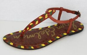 19c676a40443a7 Sam Edelman Gigi women s saddle leather ankle strap sandal size 7.5 ...