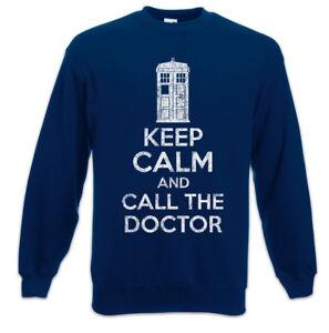 kalm Booth Sweatshirt Dr Phone dokter Fun en Pullover Blijf Who de bel AqwdzzX