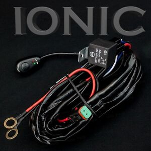 40 amp led light bar wiring harness relay on off switch. Black Bedroom Furniture Sets. Home Design Ideas