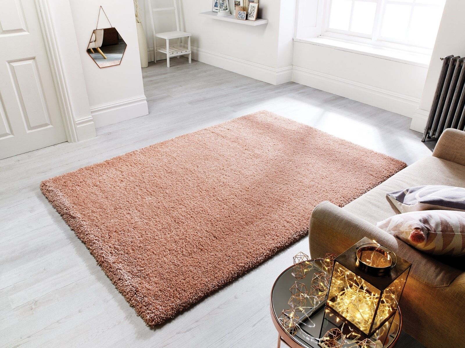 Athena Rose or or or Rose Luxe Profond Pile SHAGGY Tapis Disponible En Divers Tailles | Technologies De Pointe  bb8198