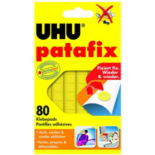 UHU Klebepads Fotokleber patafix wieder ablösbar gelb