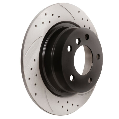REAR GROOVED DRILLED 296mm BRAKE DISCS FOR BMW 3 SERIES E90 E91 318i 318d 320i