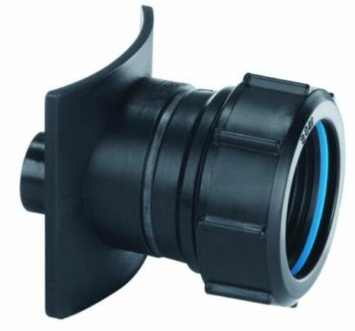 McAlpine BOSS90-CAST-BL 3.5 Inch Cast x 1.25 Inch Black Soil Pipe Boss Connector