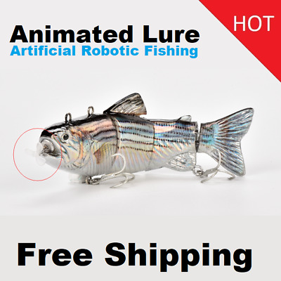 2020 Robotic Fishing Lure 4 Jointed Sections Animated Fishing Lure 13cm 34g New Ebay