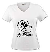 T-shirt Femme La Réunion 974 - Du S Au Xl