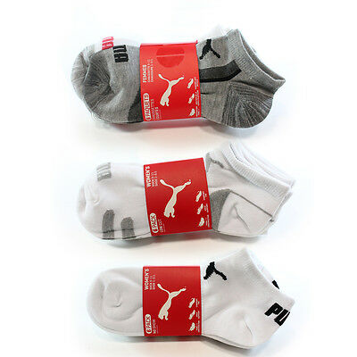 Puma NEW Women's Size 9-11 Athletic 6 Pack Low Cut Arch Support Socks