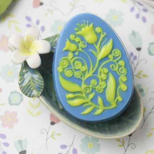 """/""""Huevo De Pascua//Flores/"""" Plástico Jabón Molde Molde de fabricación de jabón"""