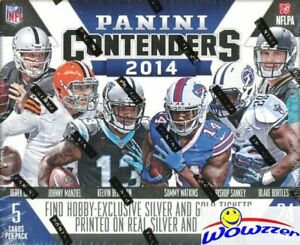 2014-Panini-Contenders-Football-Factory-Sealed-HOBBY-Box-5-AUTOGRAPHS-120-Cards