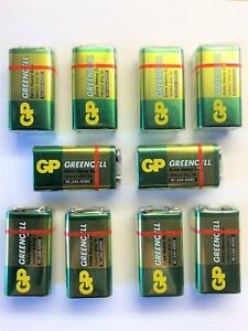 10 x GP GREENCELL EXTRA HEAVY DUTY 9V PP3 BATTERY