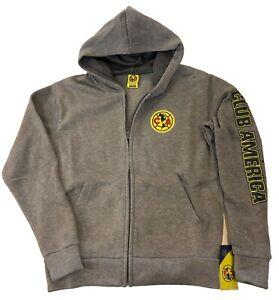 64ce30ec4 Image is loading Club-America-Zipper-Fleece-Jacket-Sweatshirt -Official-License-