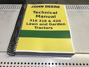 Details about 316 John Deere Lawn and Garden Tractor Technical Service on