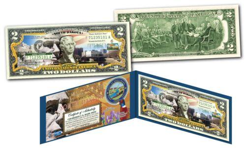 SOUTH DAKOTA OFFICIAL Genuine Legal Tender $2 Bill Honoring America/'s 50 States