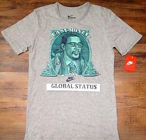 92960ae8dd0a NIKE MEN KD EASY MONEY DOLLAR GREY BLACK RETRO BLUE GREEN SHIRT ...