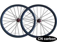 Disc brake thru axle hub 23mm width U Shape 38mm Tubeless ready carbon wheelset
