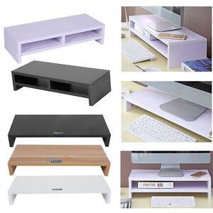 Bildschirmerhöhung Monitorerhöhung Pc Schreibtischregal Ständer Holz