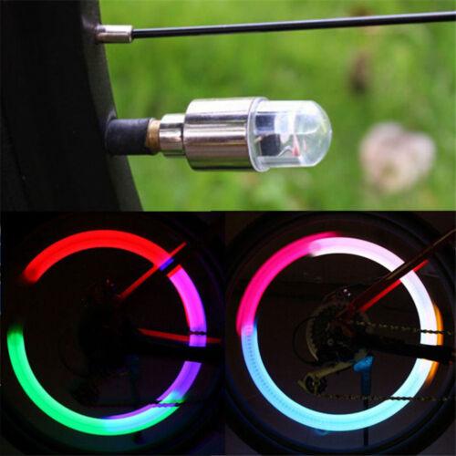 2Pcs Car Bicycle Wheel Tyre Tire Air Valve Caps Decoration Light LED Lamps
