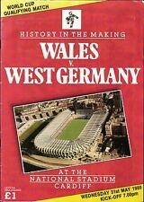 WM-Qualifikation 31.05.1989 Wales - Deutschland in Cardiff