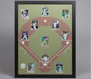 Baseball-Display-Board-Trading-Card-Sports-Field-Frame-22x28