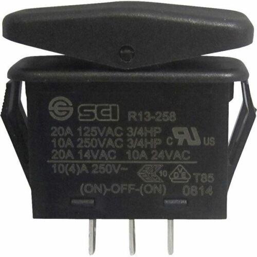 //Off// On SCI R13-258I Toggle Switch 14V DC 21A 1x On Black IP66 Mom//0//Mom