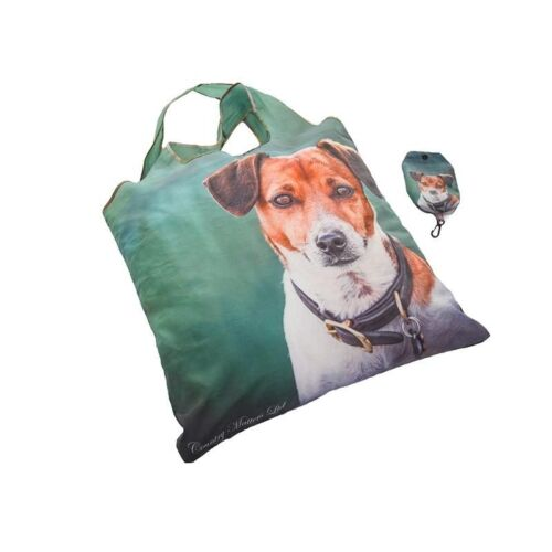 Country Matters Amber The Jack Russell Shopping Bag Fold Away Reusable Gift  NEW
