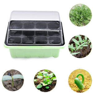 12Cell-Plant-Seed-Grow-Box-Nursery-Seedling-Starter-Garden-Yard-Tray-Plastic-Kit