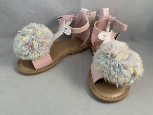 Old Navy Unicorn Pom Pom Sandals
